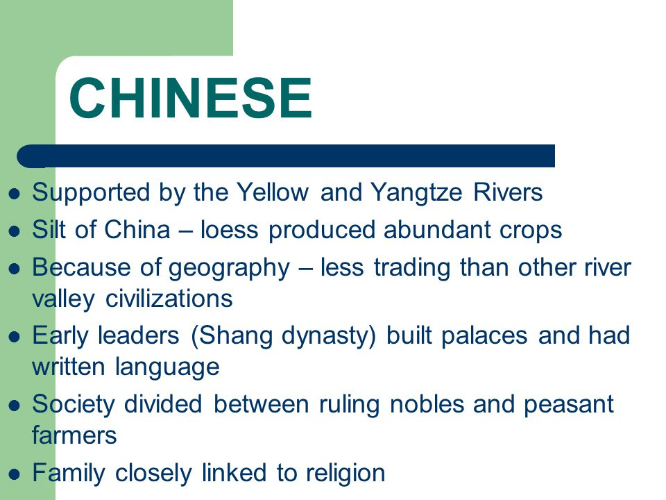 CHINESE Supported by the Yellow and Yangtze Rivers