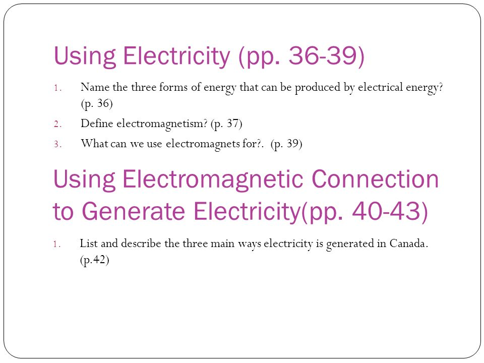 Using Electricity (pp. 36-39)