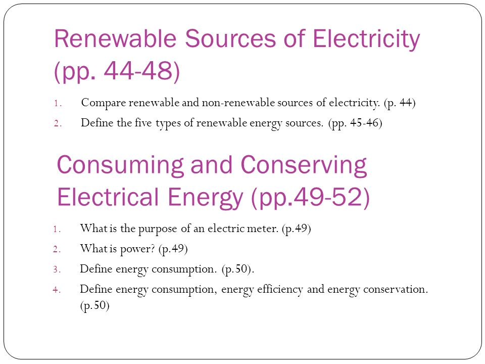 Renewable Sources of Electricity (pp. 44-48)