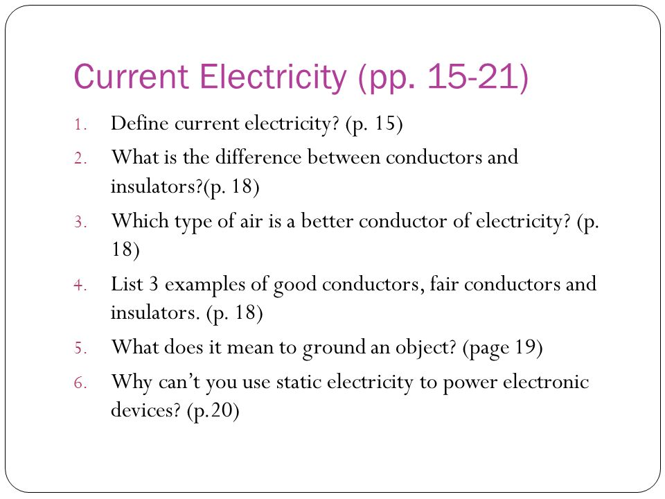 Current Electricity (pp. 15-21)