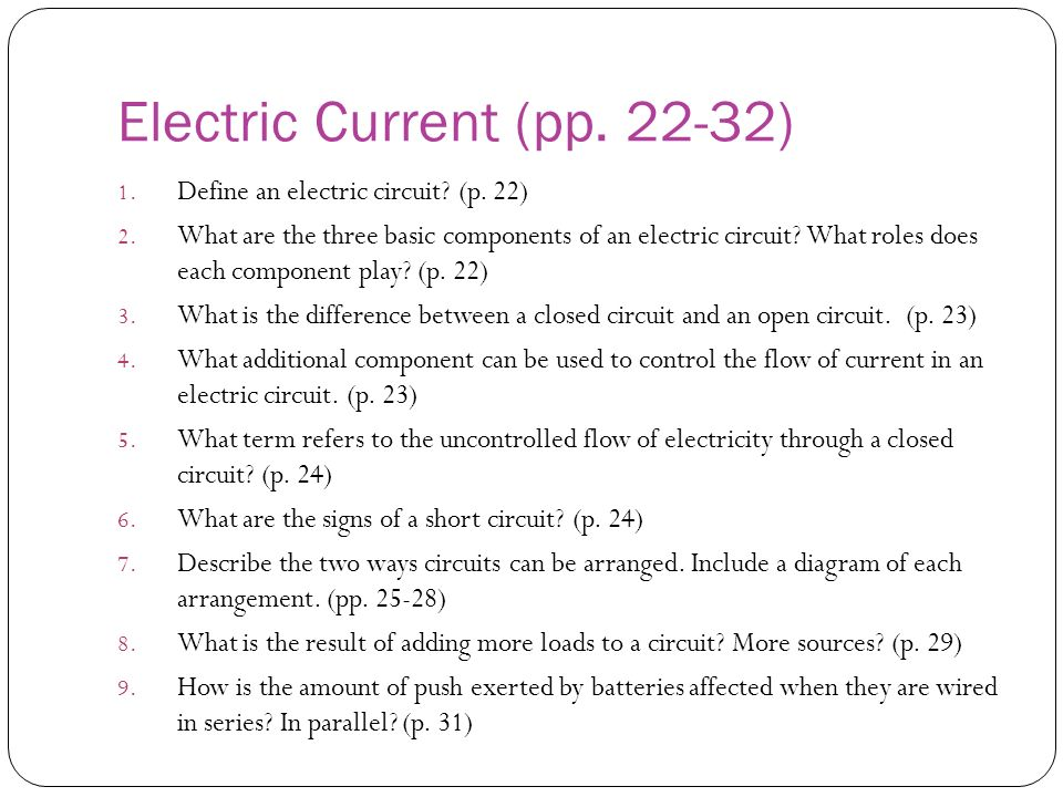 Electric Current (pp. 22-32)