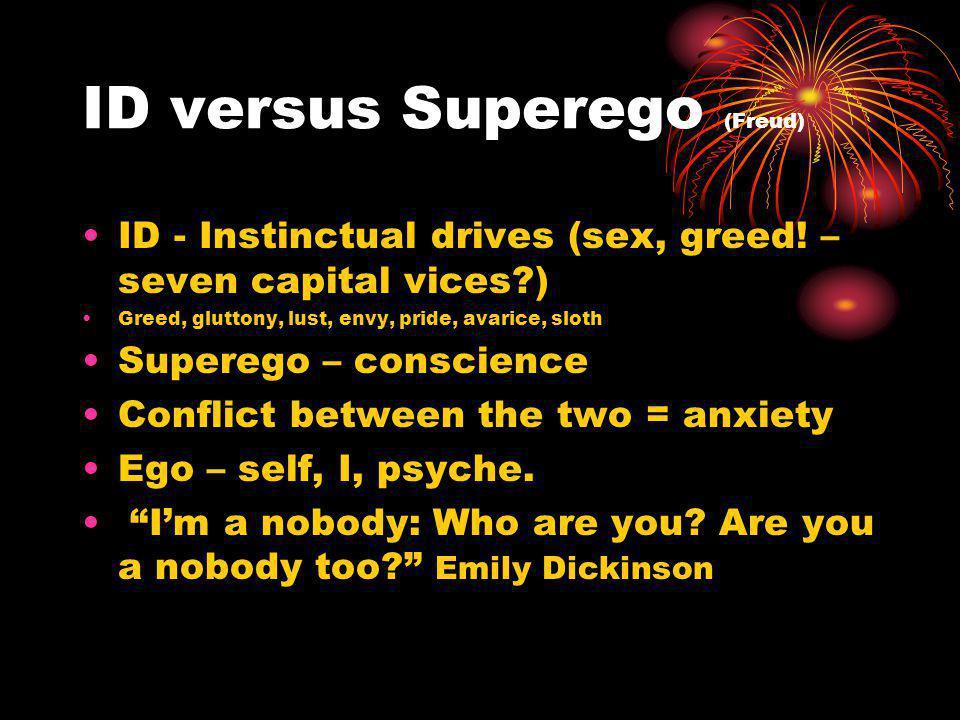 ID versus Superego (Freud)