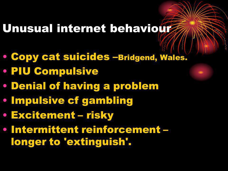 Unusual internet behaviour