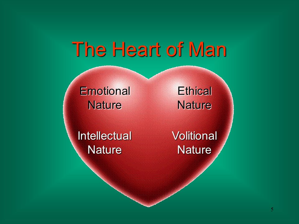 The Heart of Man Emotional Nature Ethical Nature Intellectual Nature