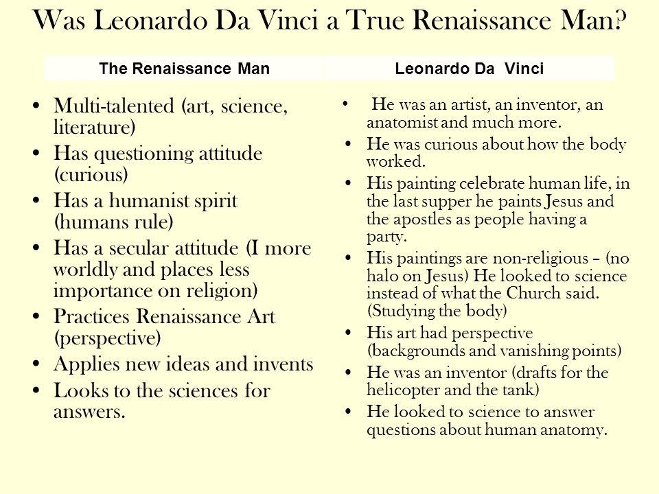 Was Leonardo Da Vinci a True Renaissance Man