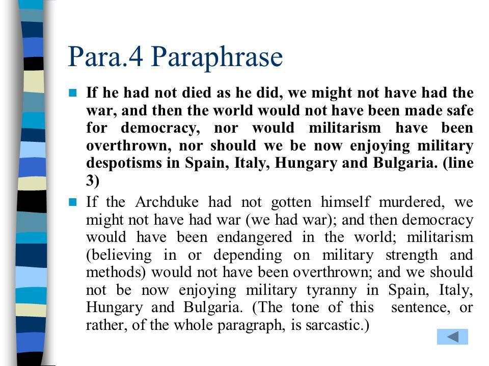 Para.4 Paraphrase
