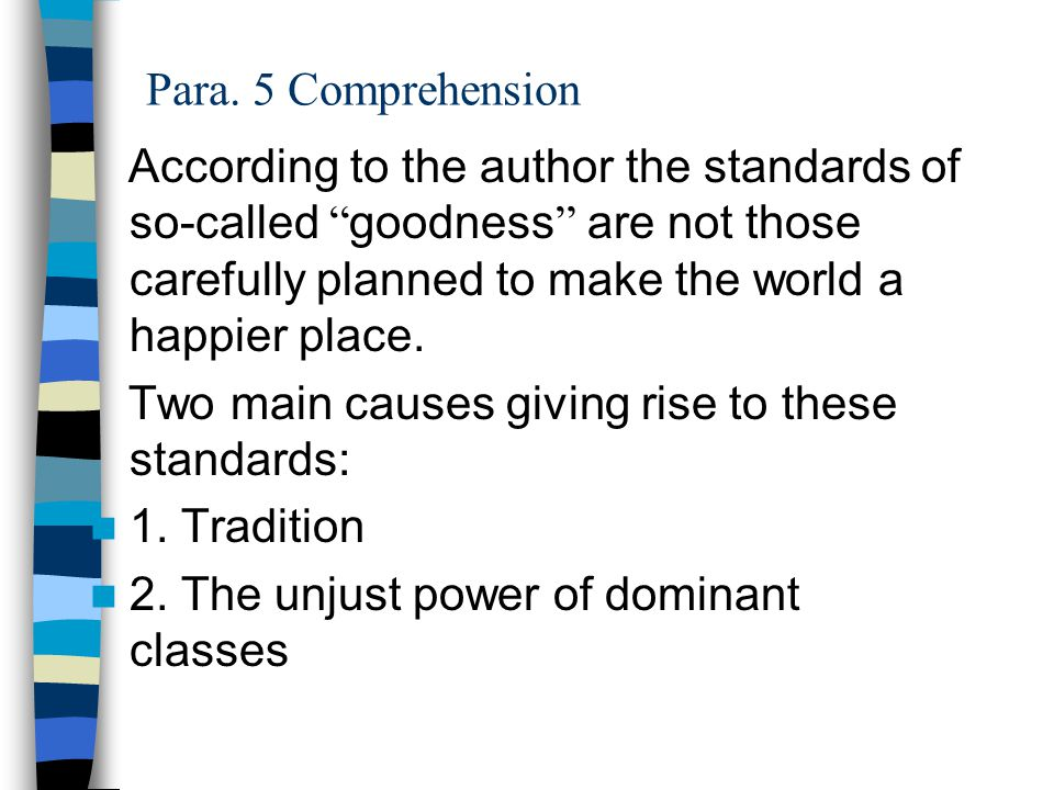 Para. 5 Comprehension