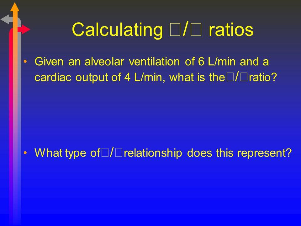 Calculating / ratios