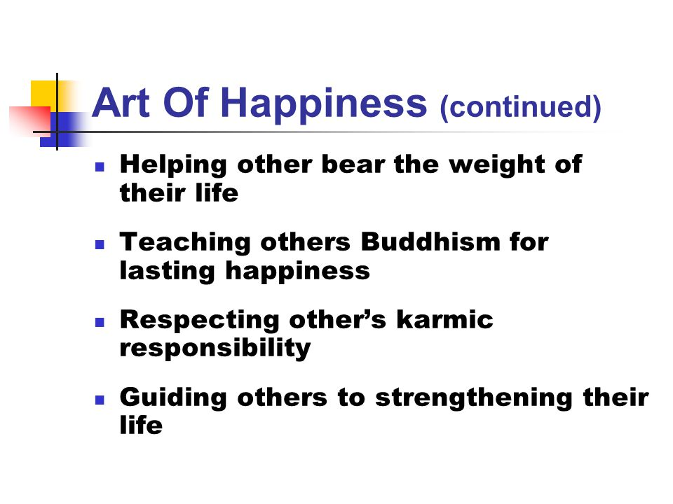 Art Of Happiness (continued)
