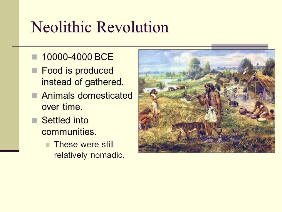 Neolithic Revolution 10000-4000 BCE
