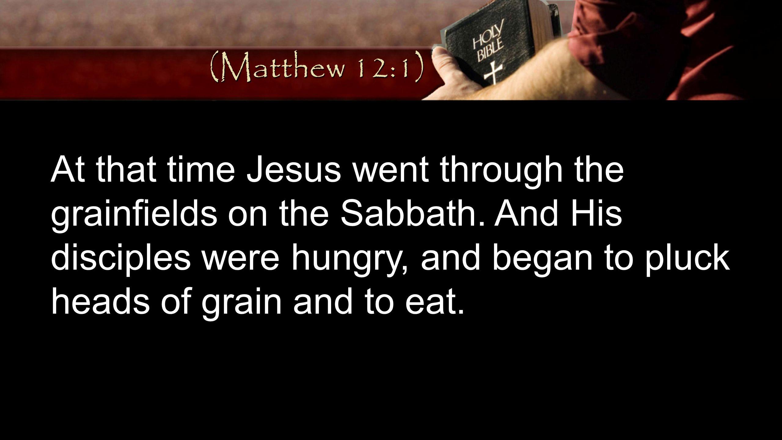 (Matthew 12:1)