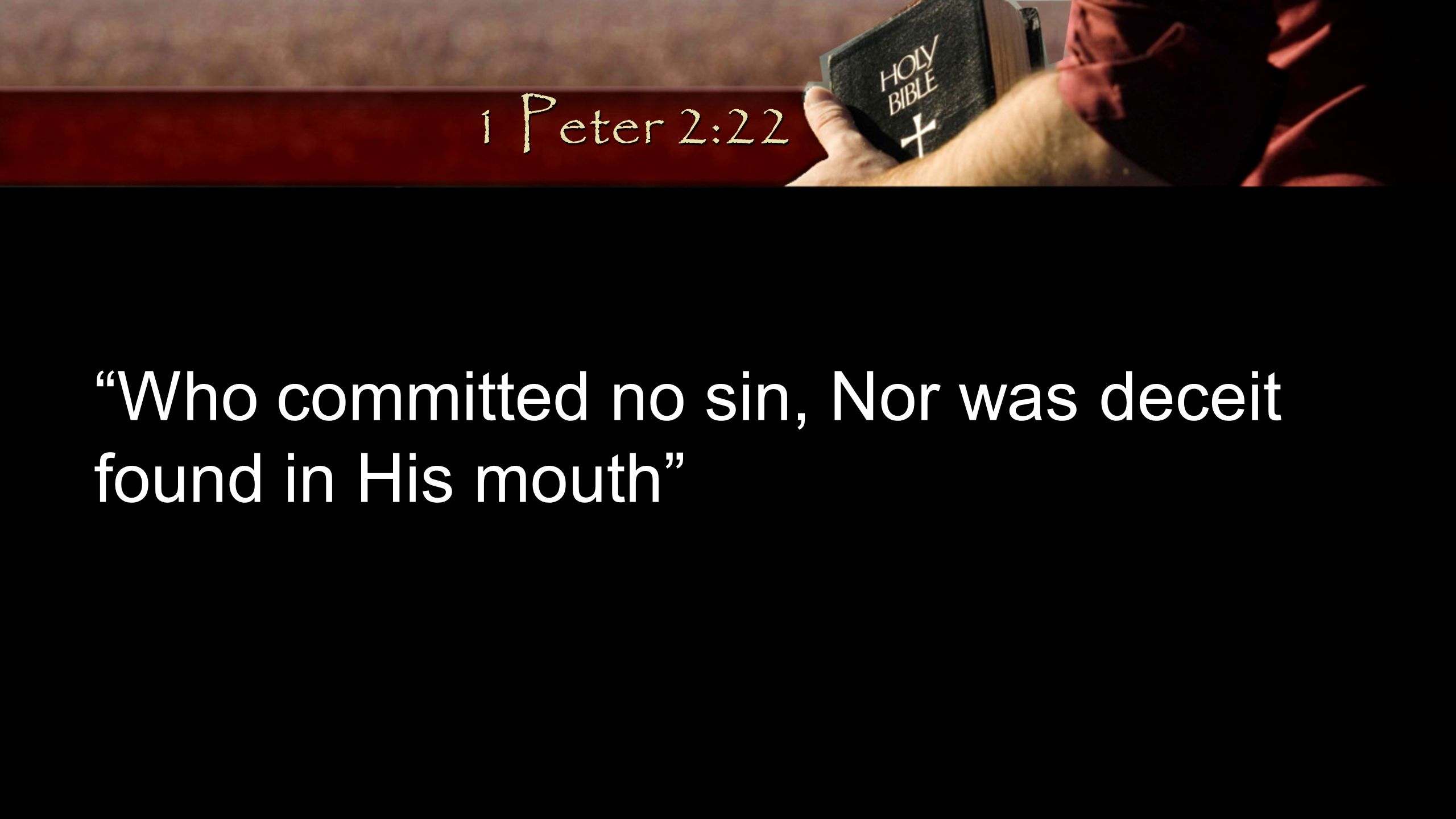 Who committed no sin, Nor was deceit found in His mouth