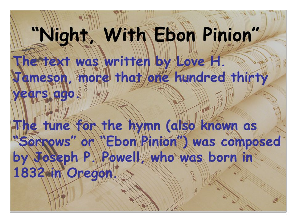 Night, With Ebon Pinion