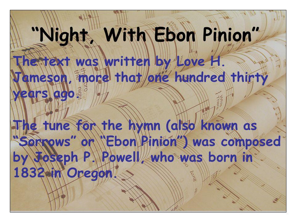 Night, With Ebon Pinion