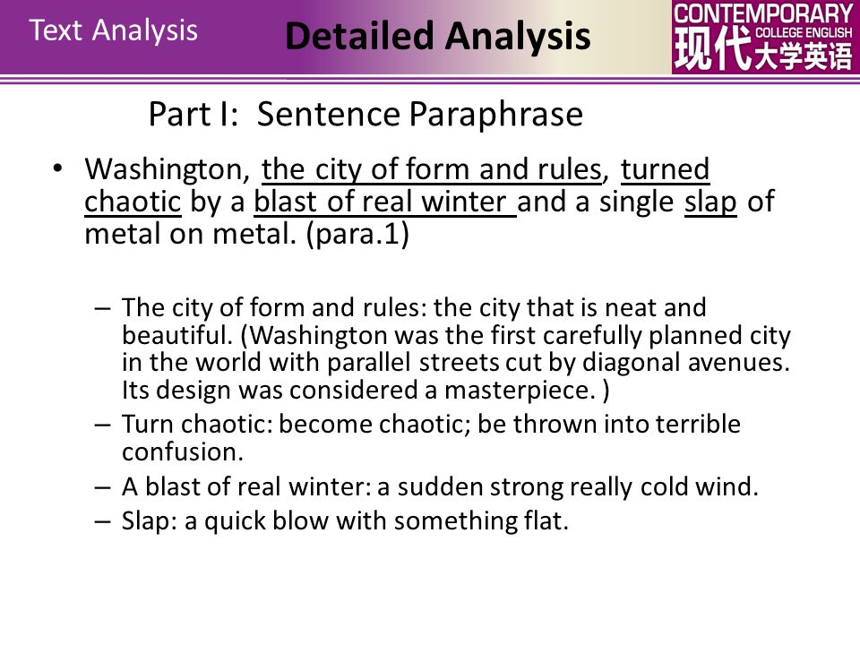 Detailed Analysis Part I: Sentence Paraphrase Text Analysis