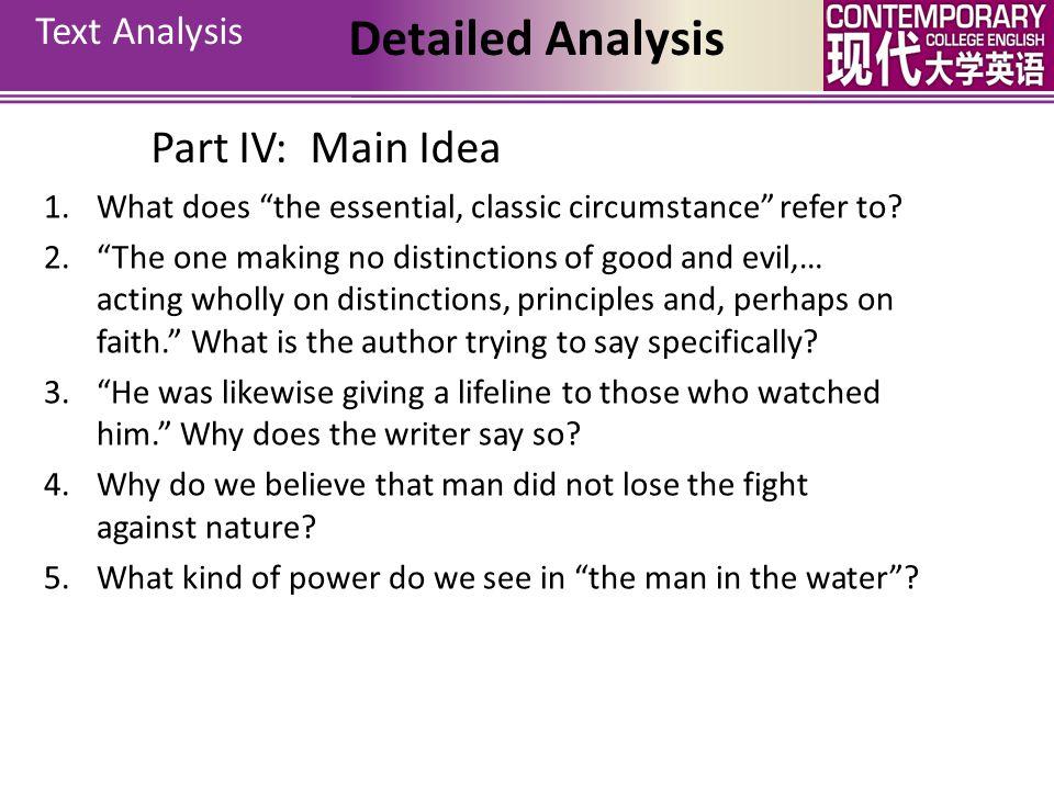 Detailed Analysis Part IV: Main Idea Text Analysis