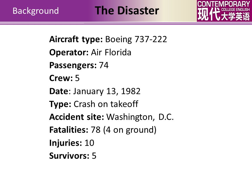 The Disaster Background Aircraft type: Boeing 737-222