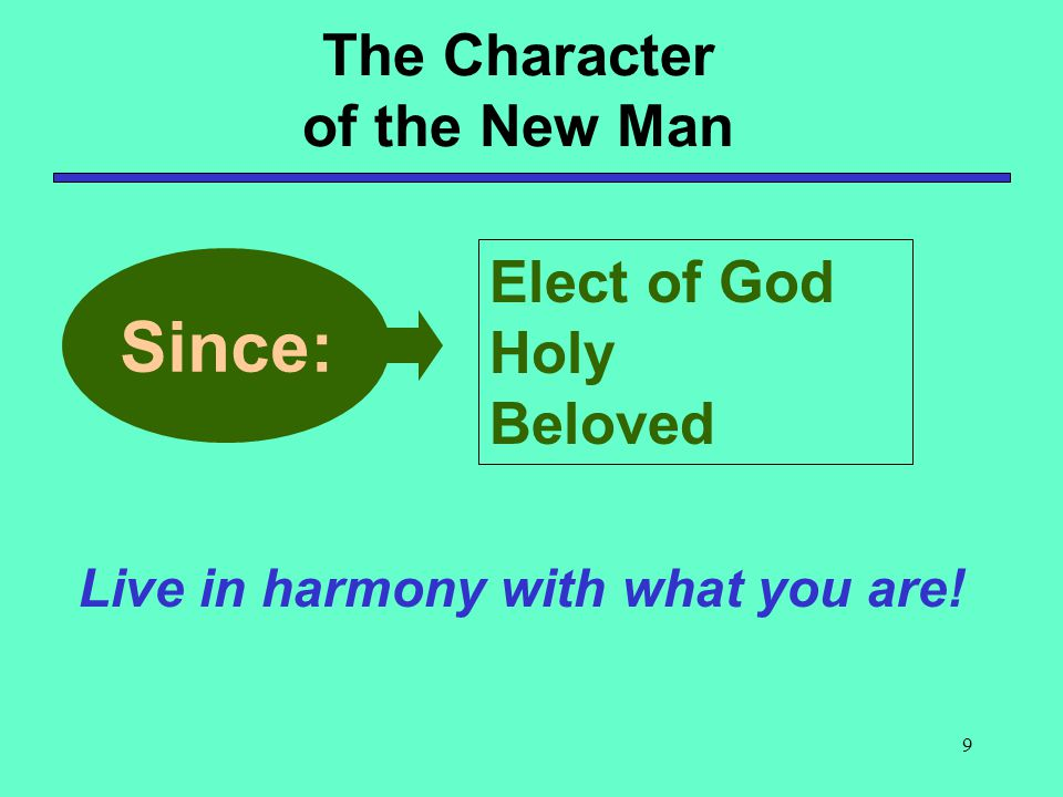 Since: The Character of the New Man Elect of God Holy Beloved