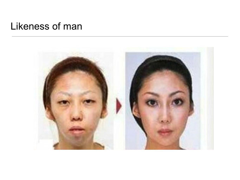 Likeness of man