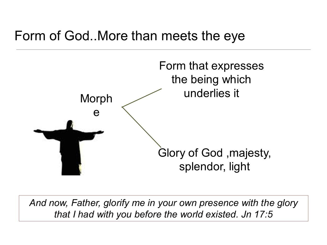 Form of God..More than meets the eye