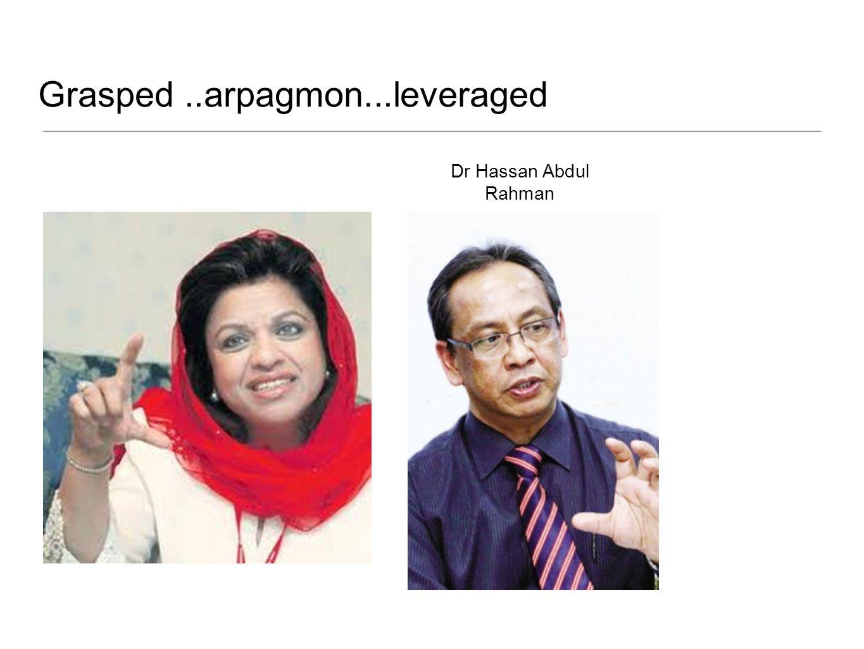 Grasped ..arpagmon...leveraged