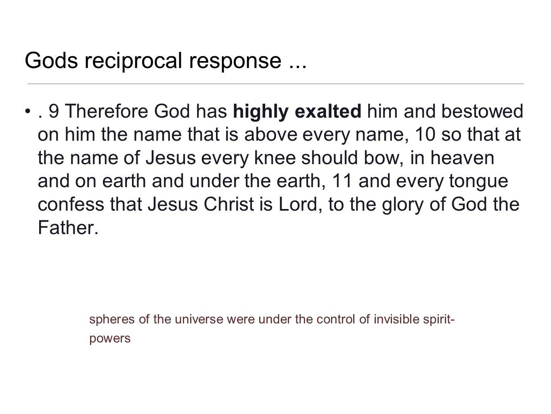 Gods reciprocal response ...