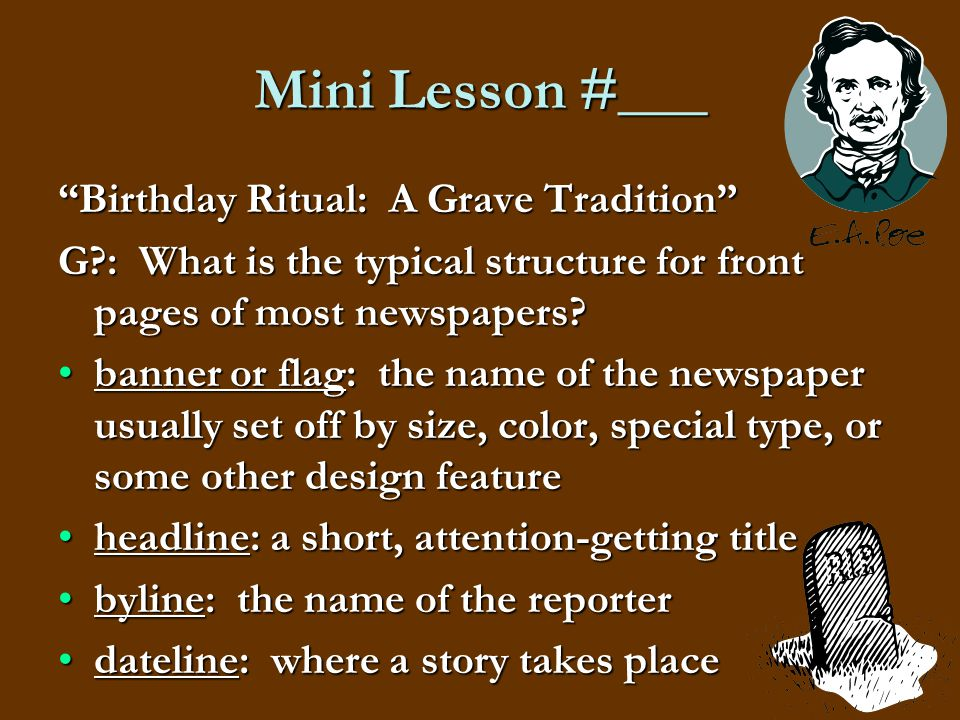 Mini Lesson #___ Birthday Ritual: A Grave Tradition