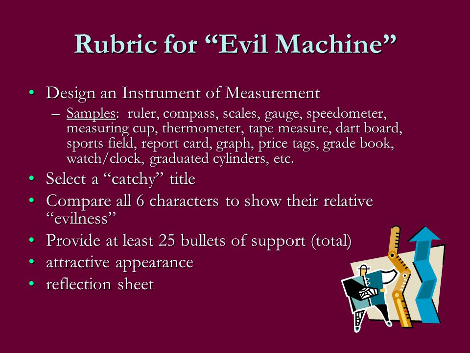Rubric for Evil Machine
