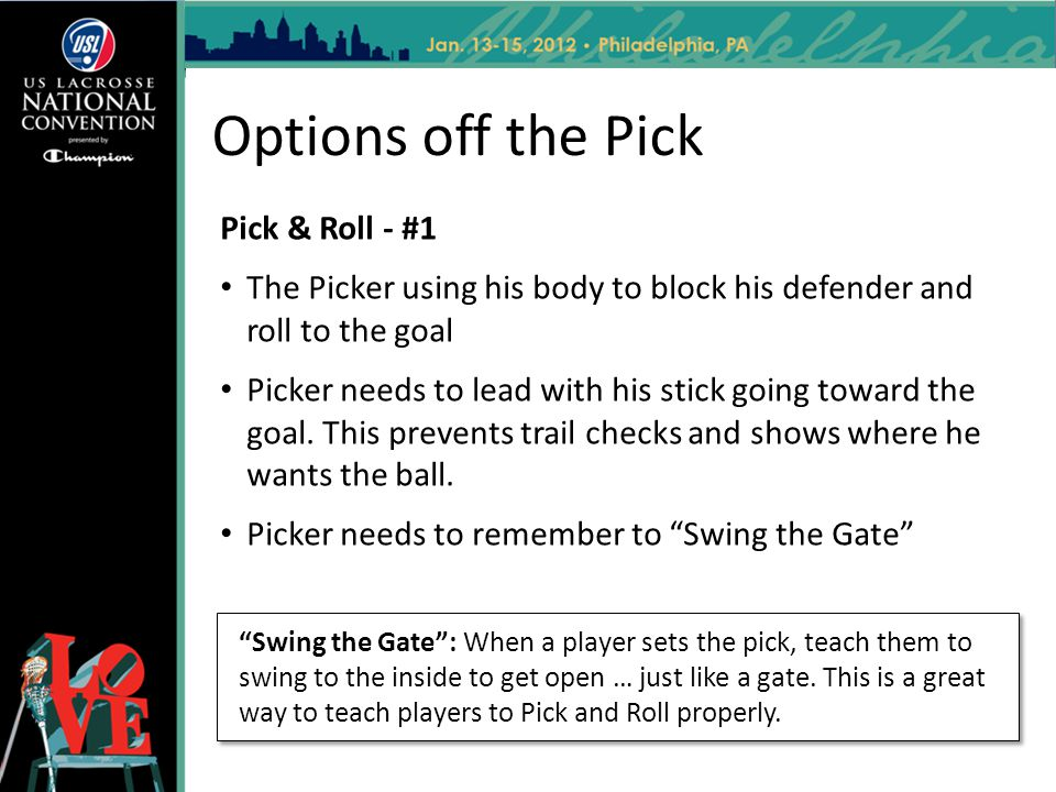 Options off the Pick Pick & Roll - #1
