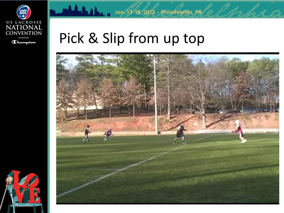 Pick & Slip from up top