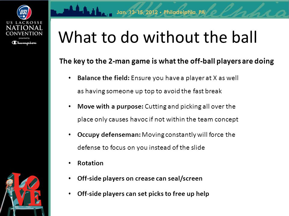 What to do without the ball