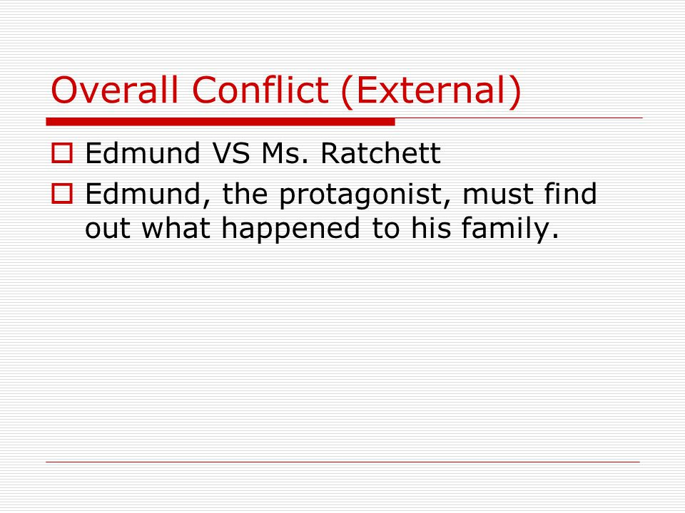 Overall Conflict (External)