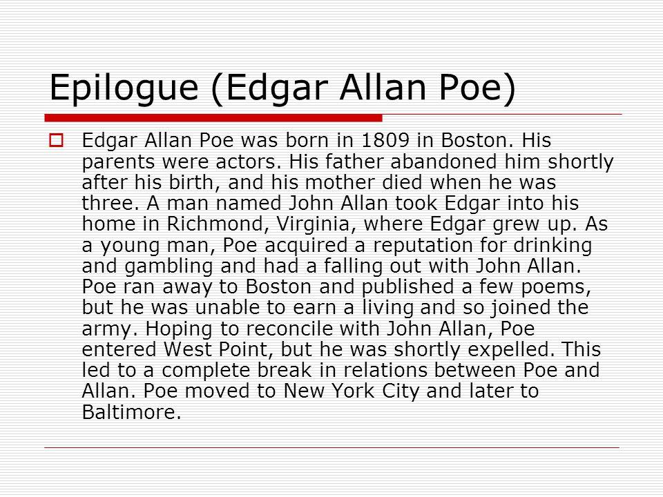 Epilogue (Edgar Allan Poe)