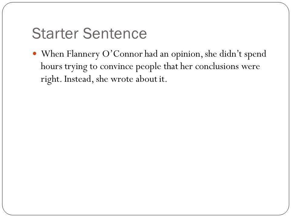 Starter Sentence