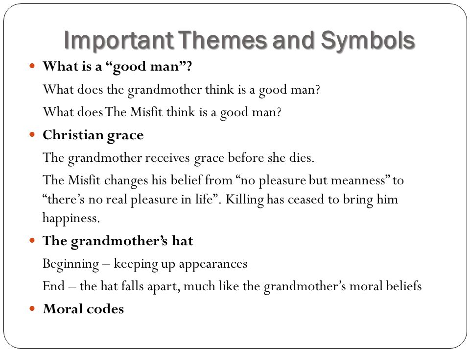 A Good Man Is Hard To Find Symbolism