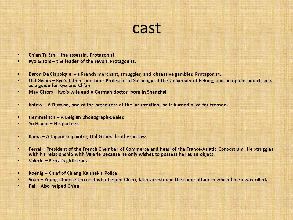 cast Ch en Ta Erh – the assassin. Protagonist.