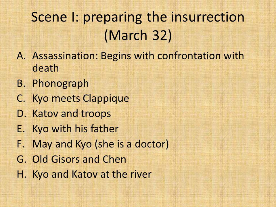 Scene I: preparing the insurrection (March 32)