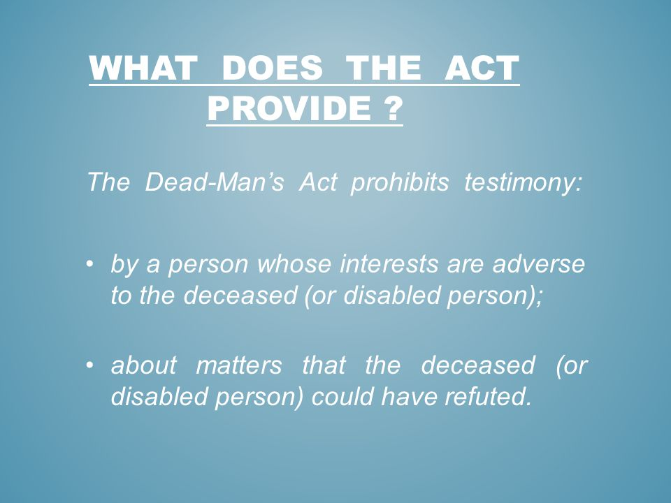 WHAT DOES THE aCT PROVIDE