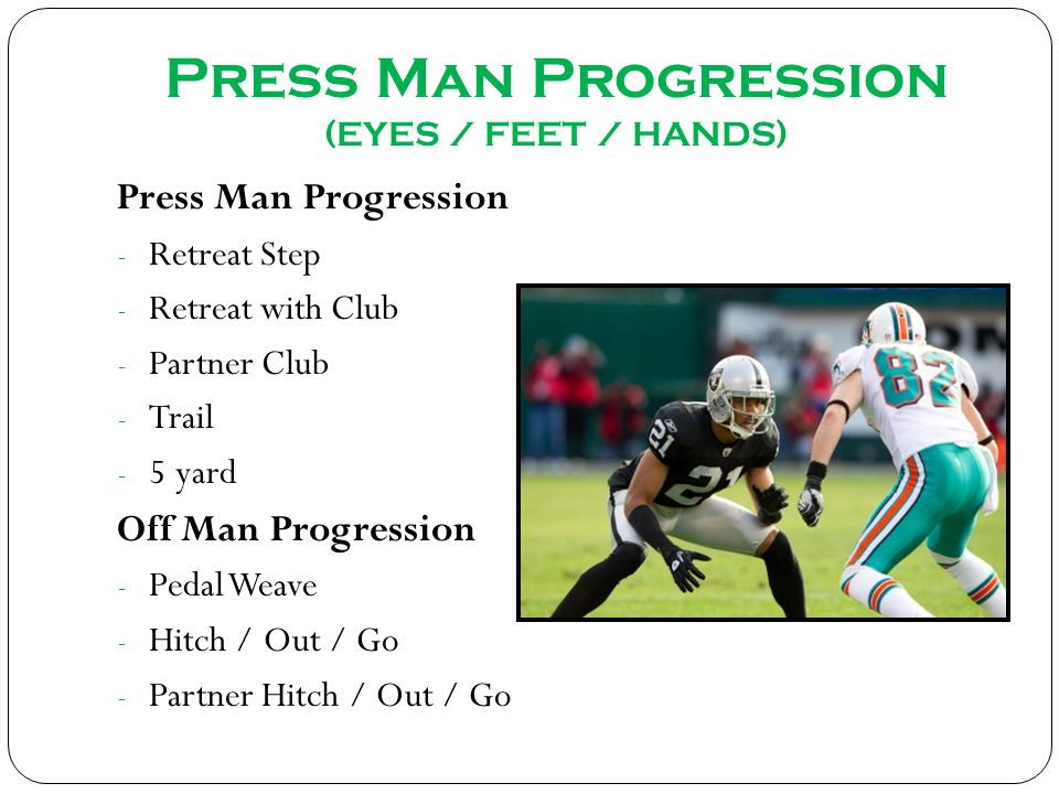 Press Man Progression (EYES / FEET / HANDS)