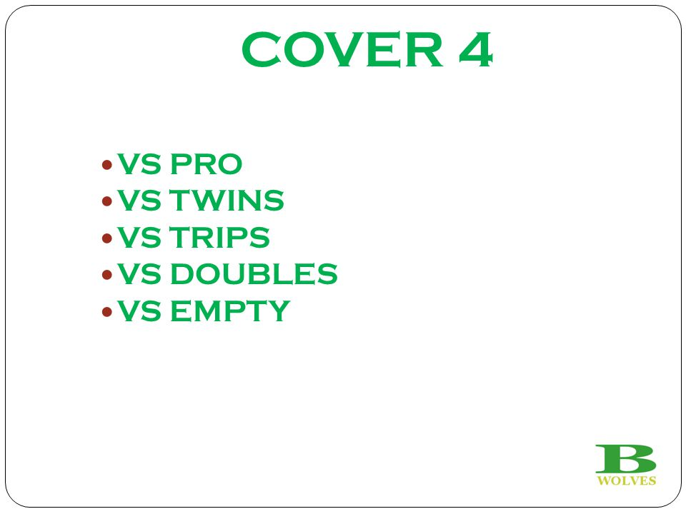 COVER 4 VS PRO VS TWINS VS TRIPS VS DOUBLES VS EMPTY 19