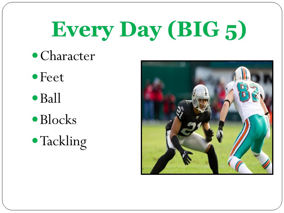 Every Day (BIG 5) Character Feet Ball Blocks Tackling