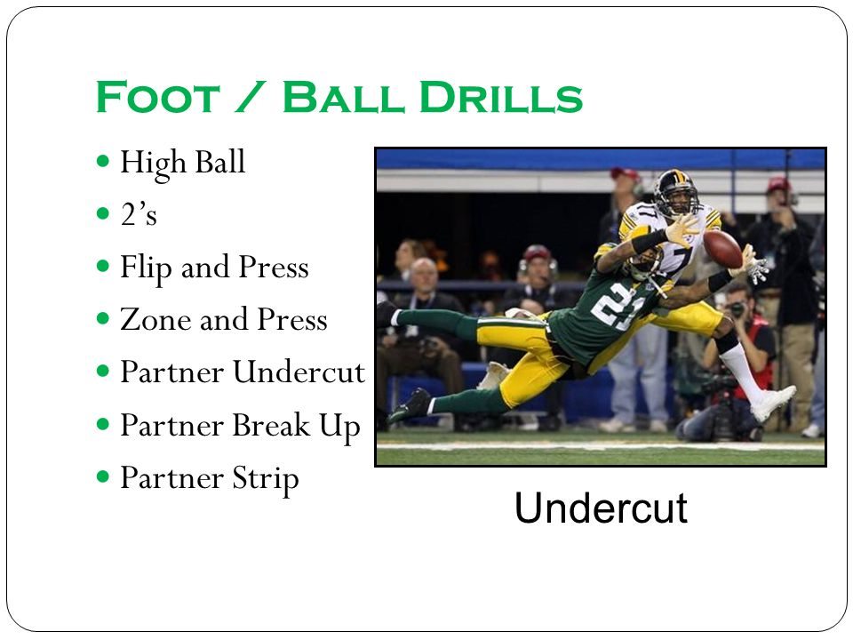 Foot / Ball Drills Undercut High Ball 2's Flip and Press