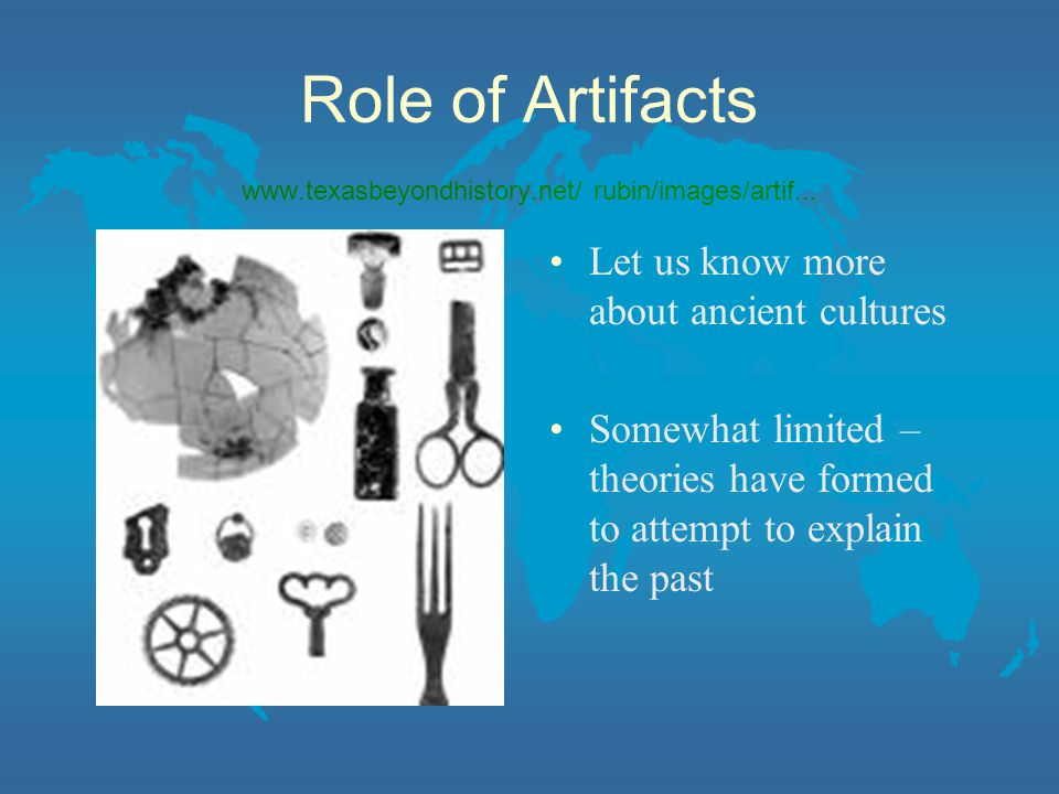 Role of Artifacts www.texasbeyondhistory.net/ rubin/images/artif...