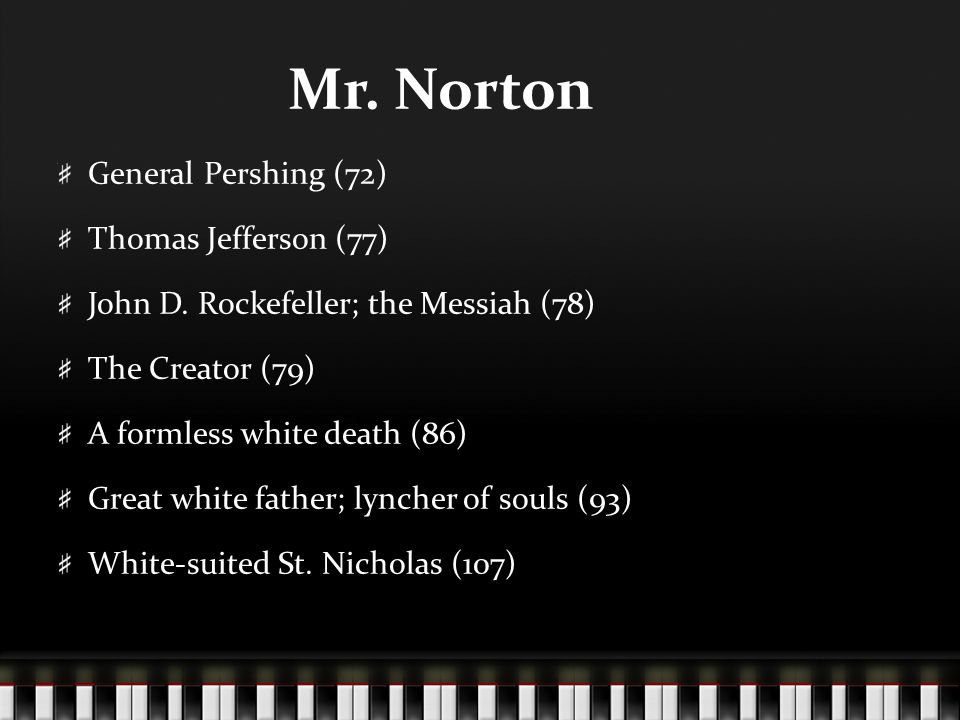 Mr. Norton General Pershing (72) Thomas Jefferson (77)