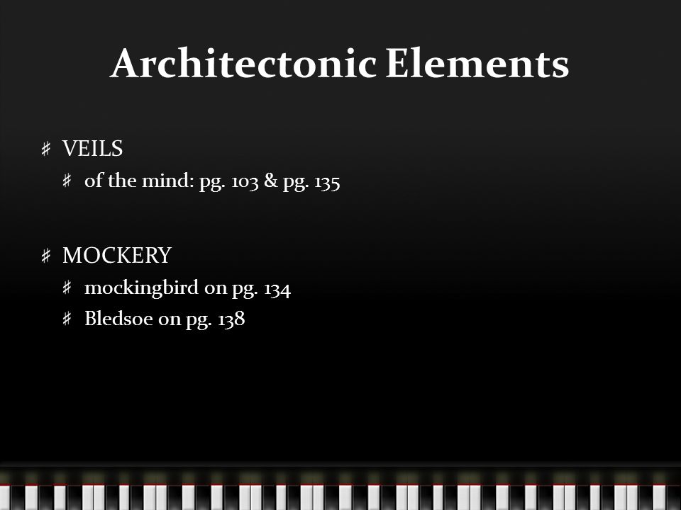 Architectonic Elements