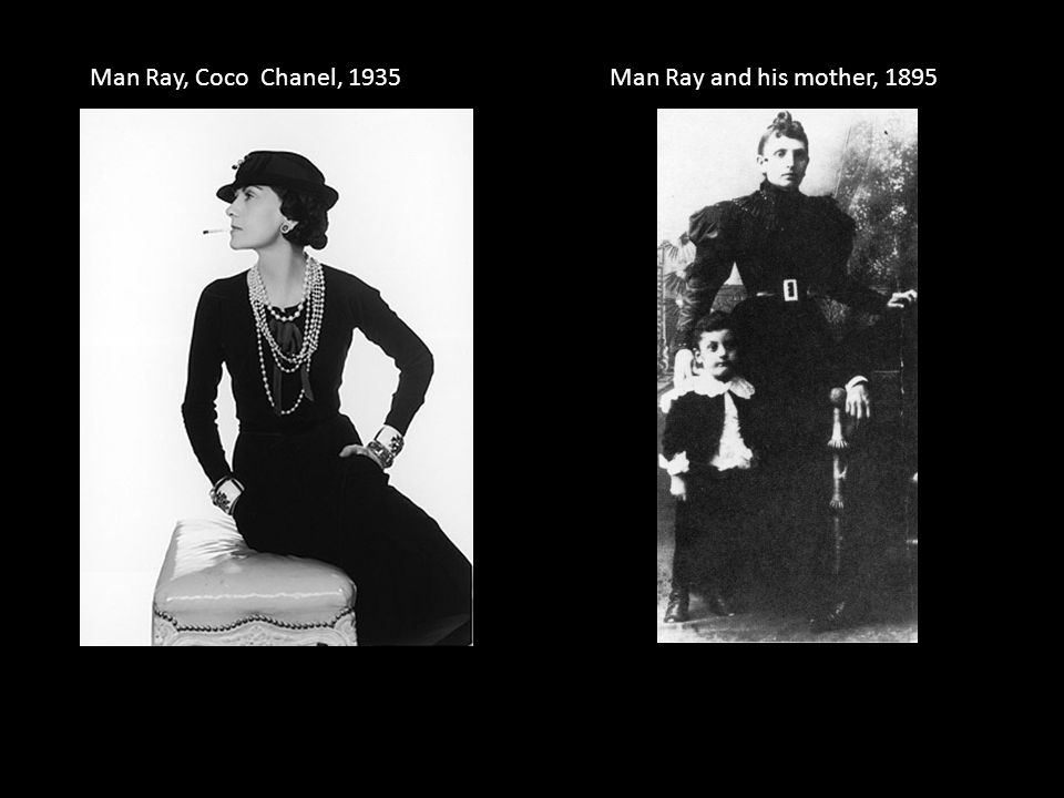 Man Ray, Coco Chanel, 1935 Man Ray and his mother, 1895