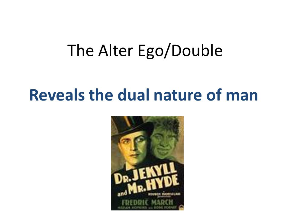 Reveals the dual nature of man