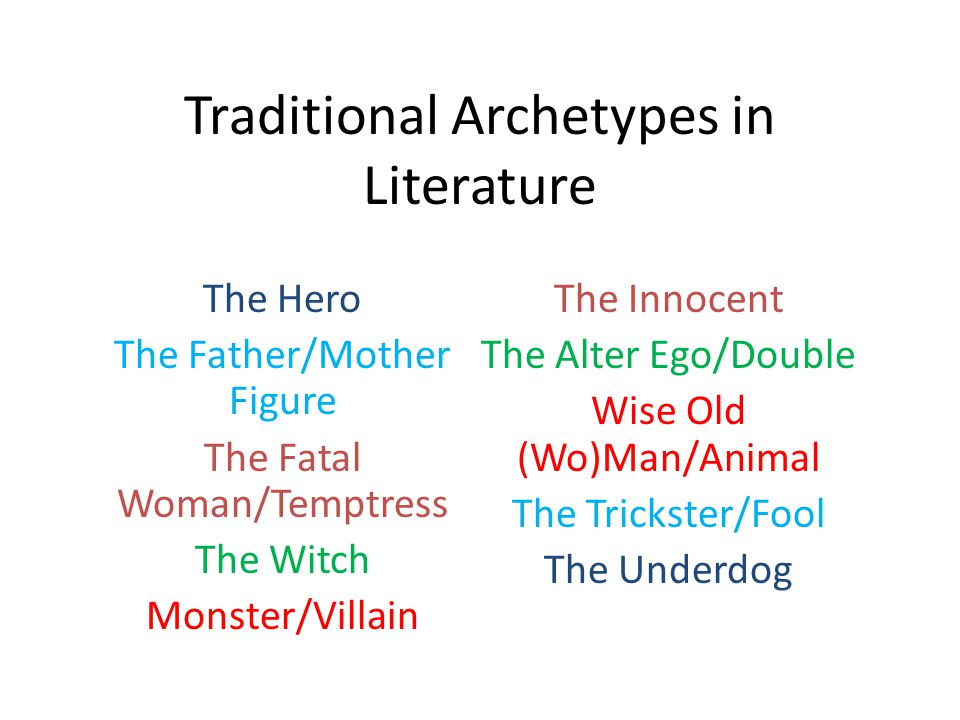 Traditional Archetypes in Literature