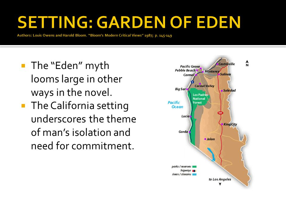 SETTING: GARDEN OF EDEN Authors: Louis Owens and Harold Bloom