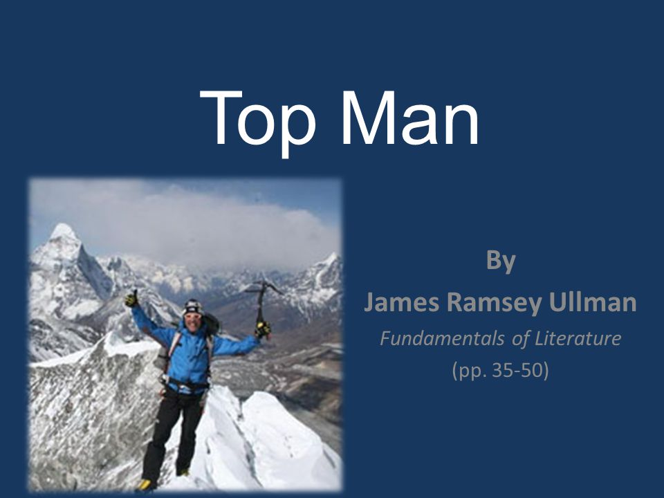 inspiration and leadership in the story top man by james ramsey ullman